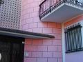 Bogliasco - Decorazione bugnato su facciata tonda
