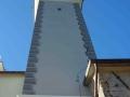 Monteghirfo - Chiesa di S. Bernardo - Torre campanaria - Facciate dipinte - Raffaella Stracca