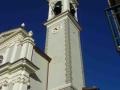 Monteghirfo - Chiesa di S. Bernardo - Torre campanaria - Facciate dipinte